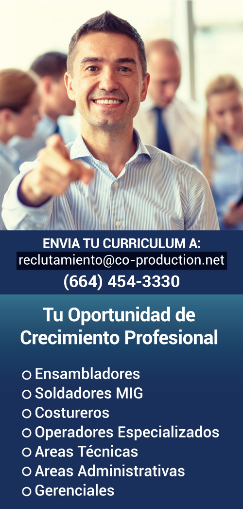 Co-Production de México es una empresa en busca de talento con experiencia